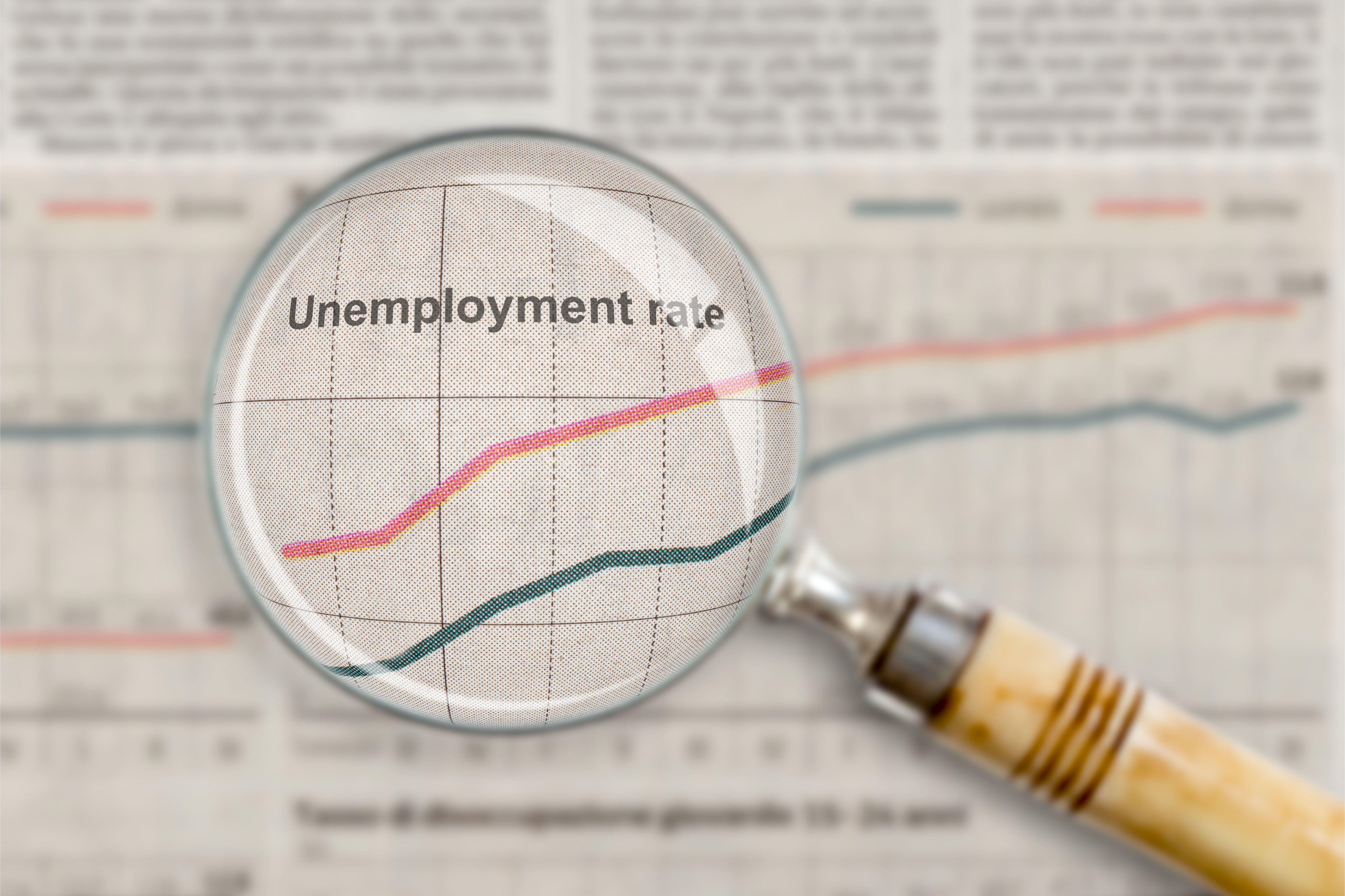 alt text image of a newspaper article about unemployment